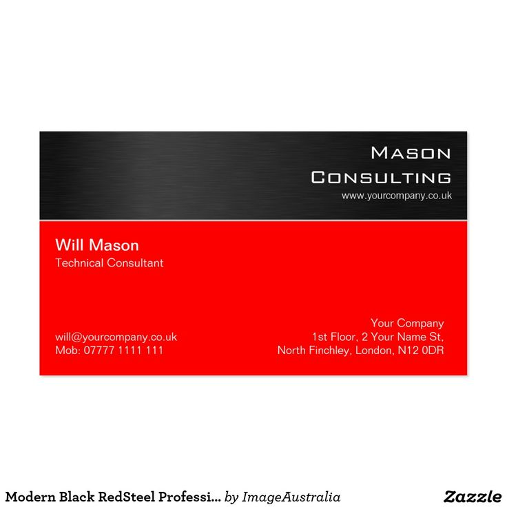 Business cards north london choice image card design and card template 54 best red business cards images on pinterest business cards modern black redsteel professional business card reheart Image collections