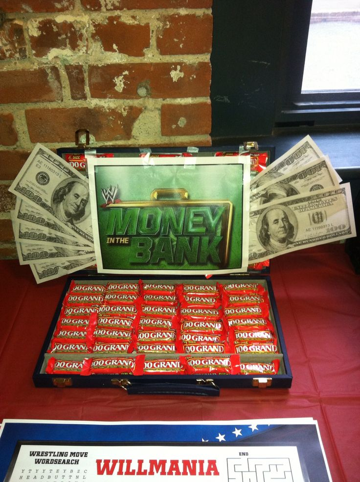 Money in the bank - wrestling party