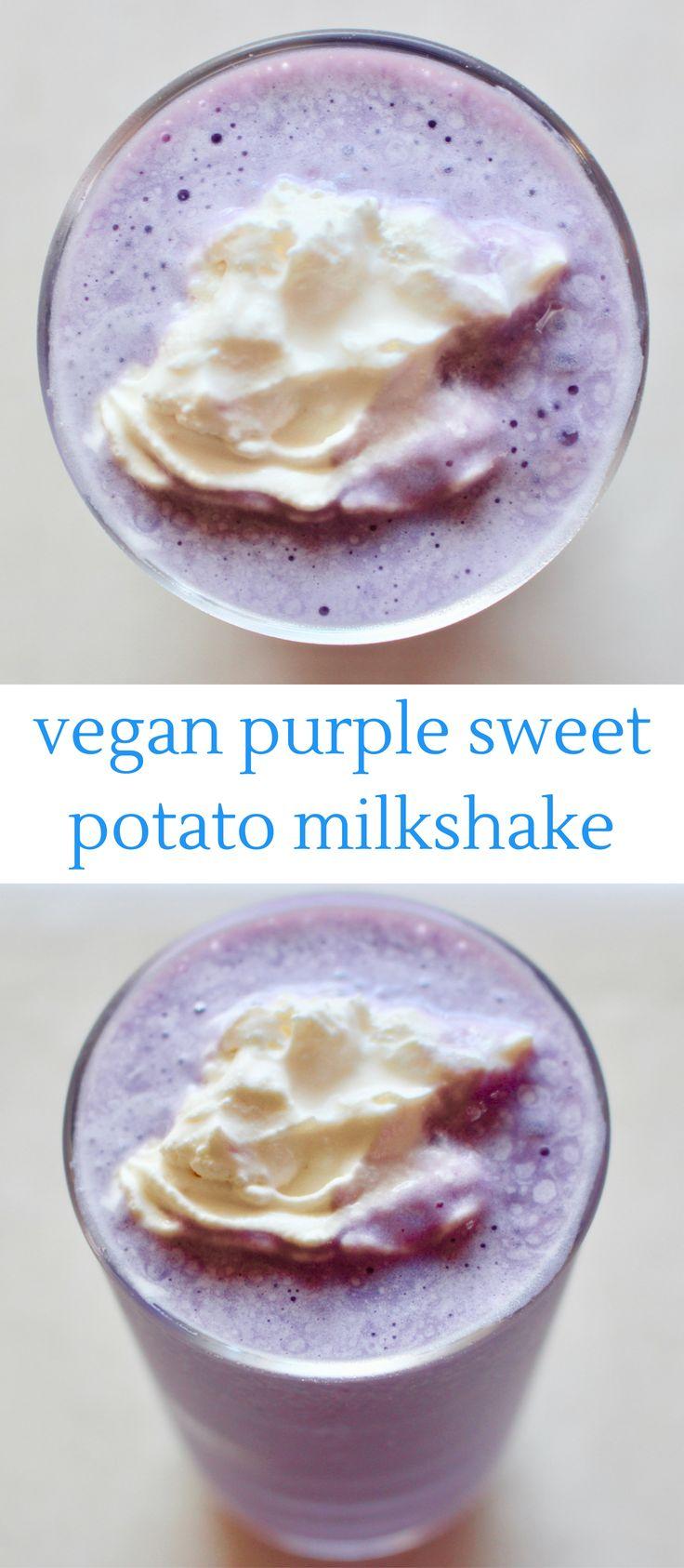 Purple Sweet Potato Milkshake - vegan, gluten-free and refined sugar free.