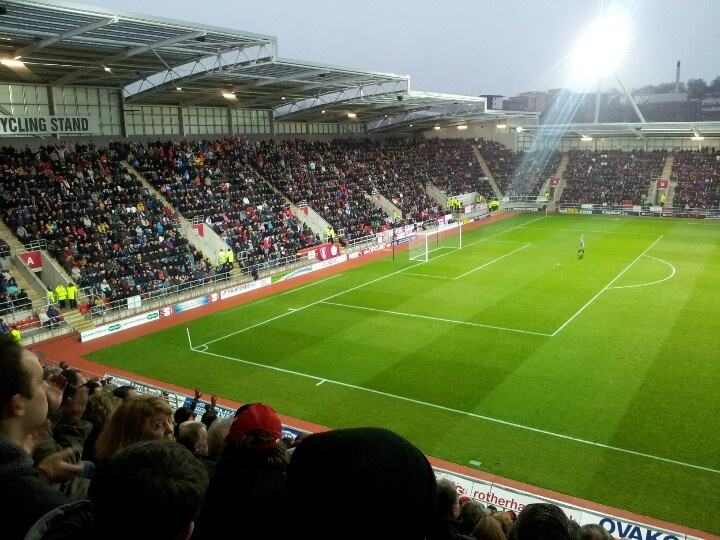 Inside the New York Stadium on a match day