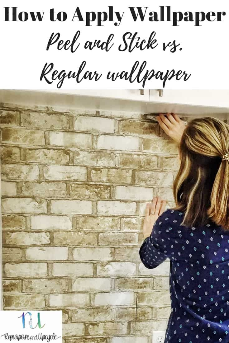 How To Apply Wallpaper Peel And Stick Vs Regular Wallpaper How To Apply Wallpaper Faux Brick Wallpaper Faux Brick