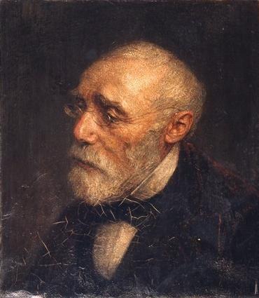 Portrait of Jozef Israëls by Jan Veth (Dutch 1864-1925)