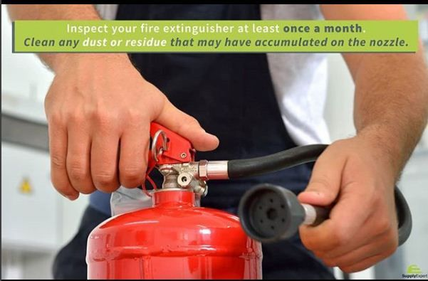 An inspection of your fire extinguisher can potentially save your life. https://supplyexpert.ca/ #homesafety #hometip #homemaintenance
