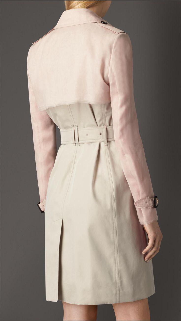 Silk Organza Gabardine Trench Coat | Burberry