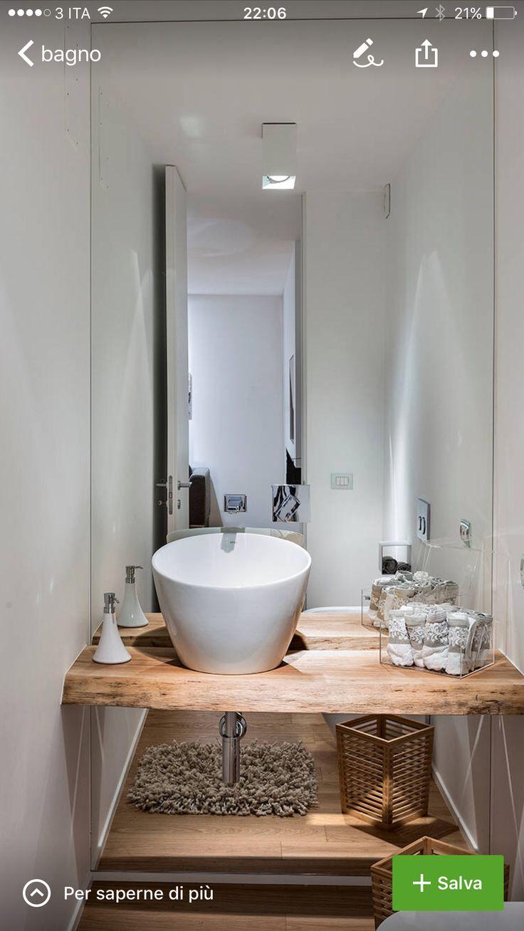 17 migliori idee su bagno degli ospiti su pinterest - Bagno piccolissimo misure ...