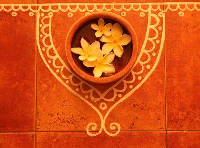 Rang-Decor {Interior Ideas predominantly Indian}: Happy Diwali! - Love this for the entryway!!