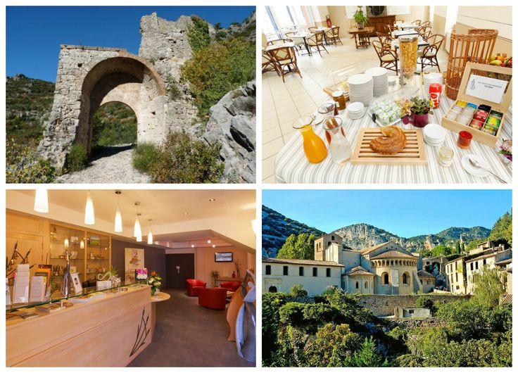 Faites une halte dans notre hôtel lors de votre randonnée sur le GR7 de St Guilhem le Désert.  #SaintGuilhemLeDésert #Randonnée #LanguedocRoussillon #GR7