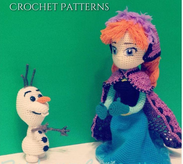Kawartha Lakes Mums Look! Amigurumi Pattern - Frozen Olaf and Anna to Crochet for Disney Frozen Fans