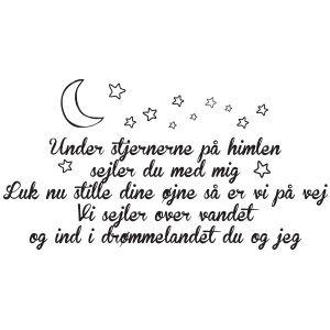 Wallsticker - Under Stjernerne på himlen Lille