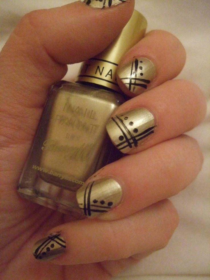 18 best Beautiful Gold Nail Art images on Pinterest | Gold nail art ...