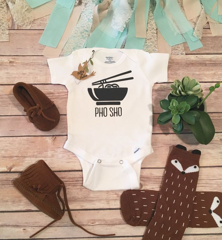 Unique Baby Gift, Pho Sho Onesie®, Funny Onesies, Baby Boy Clothes, Sushi Onesie, Cute Baby Onesies, Asian Baby Clothes, Unisex Baby Clothes