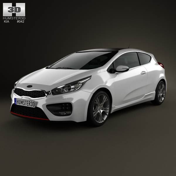 kia pro ceed gt 2014 3d model from humster3d. price: $75 | kia