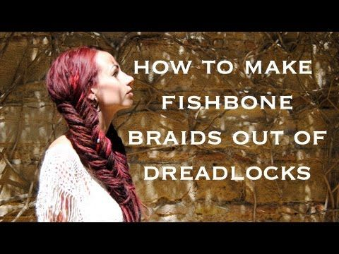 How to make fishbone braids on dreadlocks / dreadlock tutorial /dreadlock updo