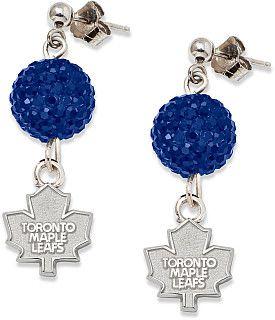 #GETincFashion #LogoArt Toronto Maple Leafs Ovation Earrings - Shop.Canada.NHL.com