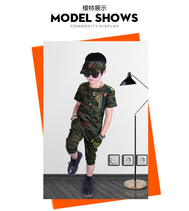 >> Click to Buy << Summer boy short sleeved camouflage suit uniform small children children summer two set #Affiliate