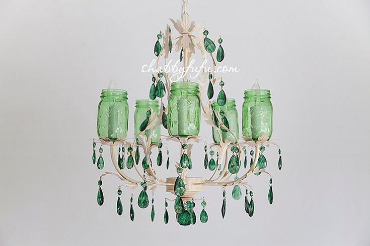 How To Make An Elegant Mason Jar Chandelier
