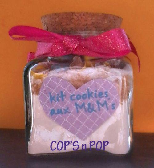 Cookies aux M&M's Recette à faire ou kit à offrir