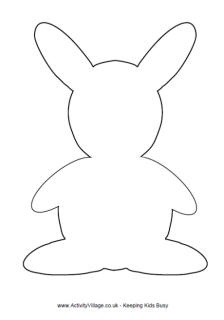 Bunny rabbit template & many other animal outlines