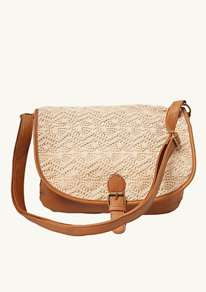 Crochet Messenger Bag | rue21