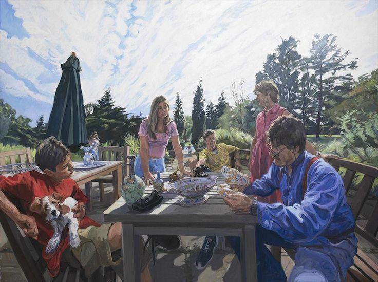 John Wonnacott 'Tim Wonnacott & Family' family portrait painting