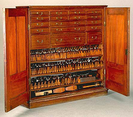 Wow. Just wow. This stunning Cuban mahogany tool cabinet was made by Arthur Sorrill of West ...