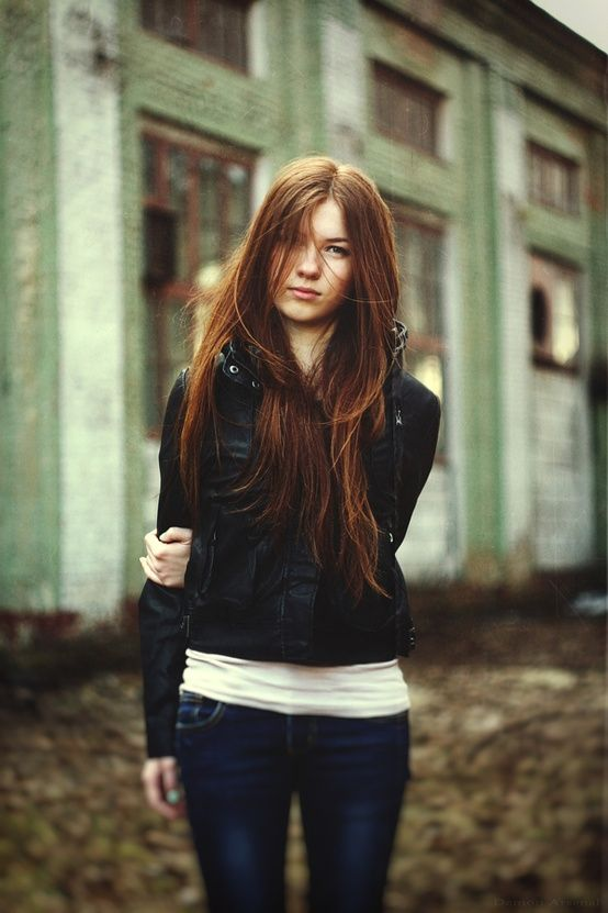 Beautiful Redhead Jacket Jeans Hair Love Hair Auburn