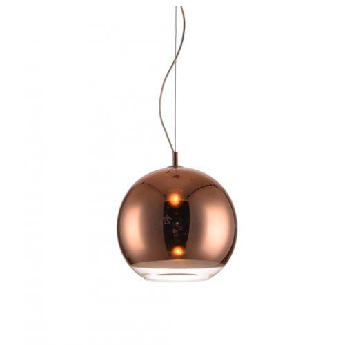 Κρεμαστή Γυάλινη Μπάλα Χάλκινο Χρώμα - Οροφής (Ledokosmos.gr)