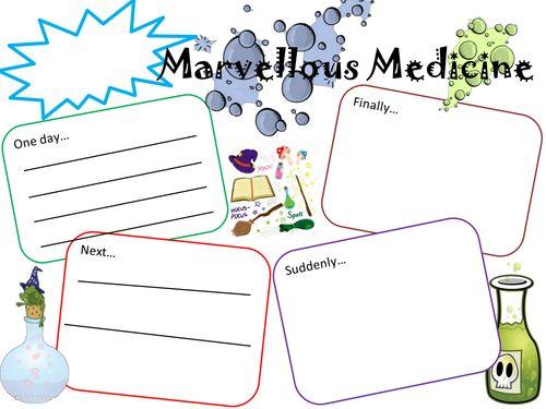 George's Marvellous Medicine - Story board