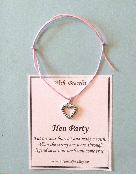 HEN PARTY Friendship Wish Bracelet   by partyislandjewellery