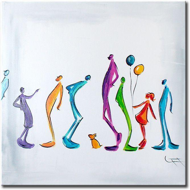 Weer een abstract kunstwerk van Ines met hele mooie heldere moderne kleuren.