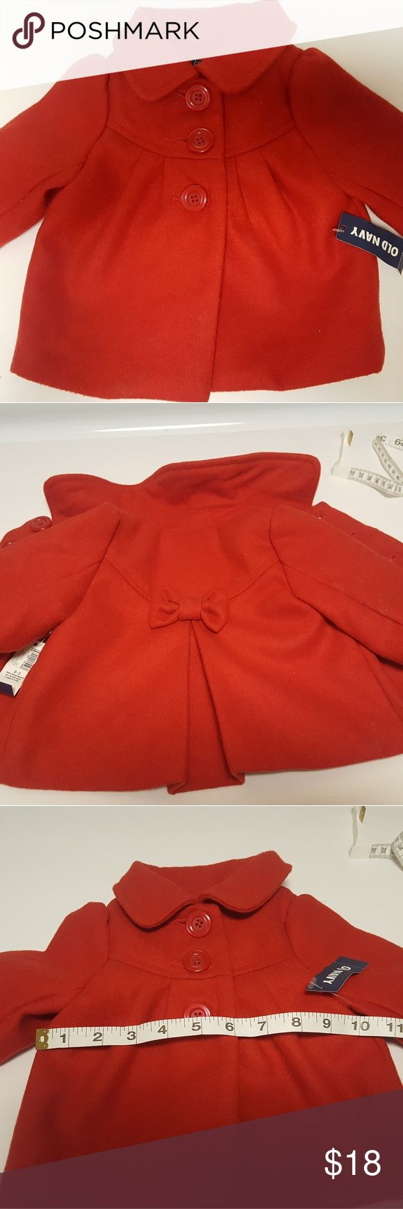 Baby girl Old Navy red peacoat NWT beautiful baby girl peacoat. Old Navy Jackets & Coats Pea Coats