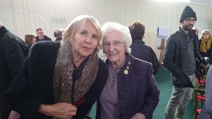 Event host, Elisa Segrave with Charlotte (Betty) Webb, Bletchley Park veteran.