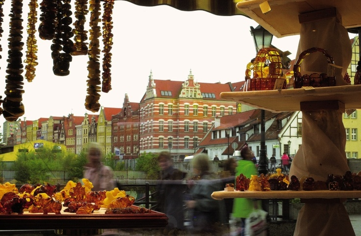 Gold amber, brown amber, yellow amber ... Danzig is famous for this precious stone. #Eurocup 2012