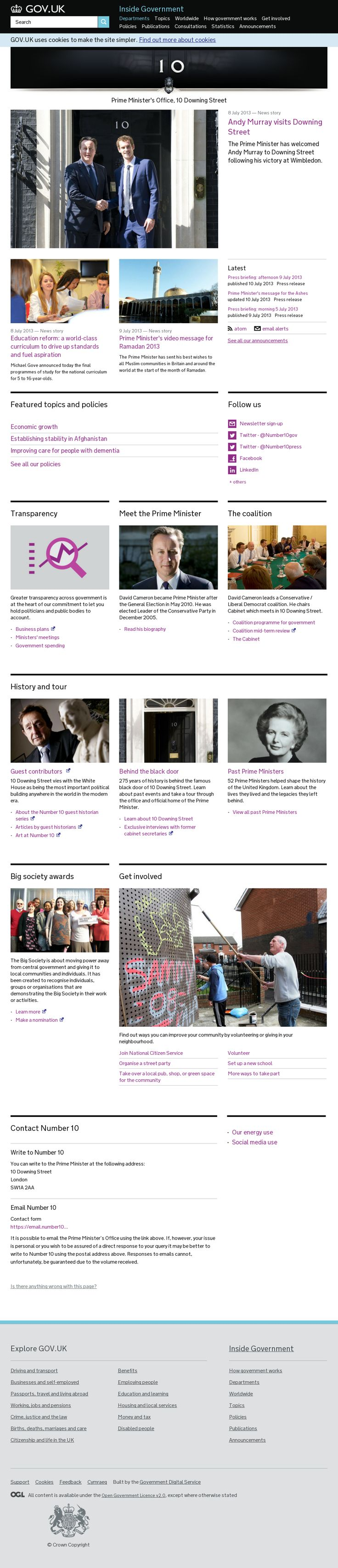 Website 'https://www.gov.uk/government/organisations/prime-ministers-office-10-downing-street' snapped on Snapito!