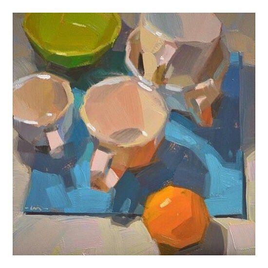 Orange is high in vitamin C that improves acne . #fruit #art #fruitart #food #painting #inspiration #motivation #orange #vitamin #cleaneating #acnefreedietplan . Art by Carol Marine
