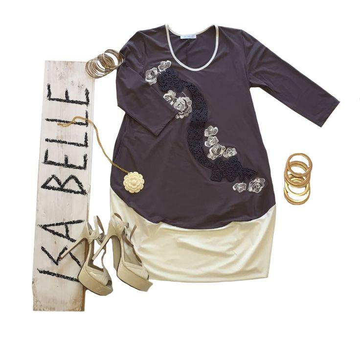 Dal lavoro ad una cena romantica. Adatto ad ogni occasione il perfetto accostamento di colori di questo abito che, se abbinato ad un paio di tacchi e ai giusti accessori, ti renderà davvero irresistibile.