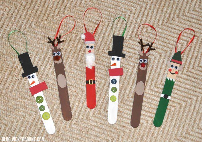 DIY Popsicle Stick Christmas Tree Ornaments