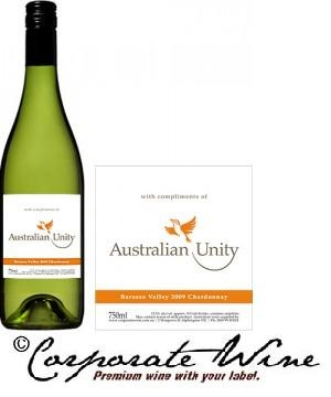 Label Designed for Business gifts of Barossa Valley 2012 Chardonnay, from our Silver Range of wine.