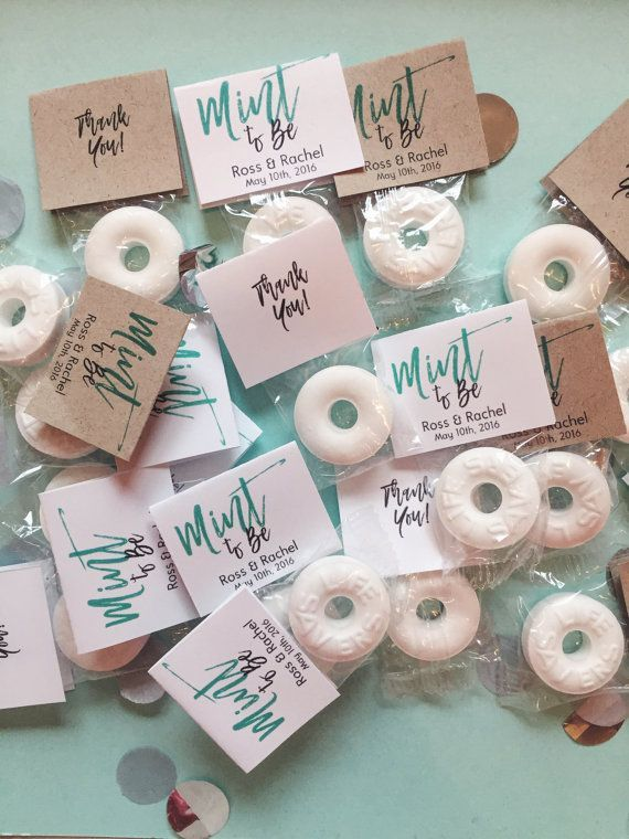 Mint to Be Wedding Favors / Custom Mint Favors / White / Mint (100)
