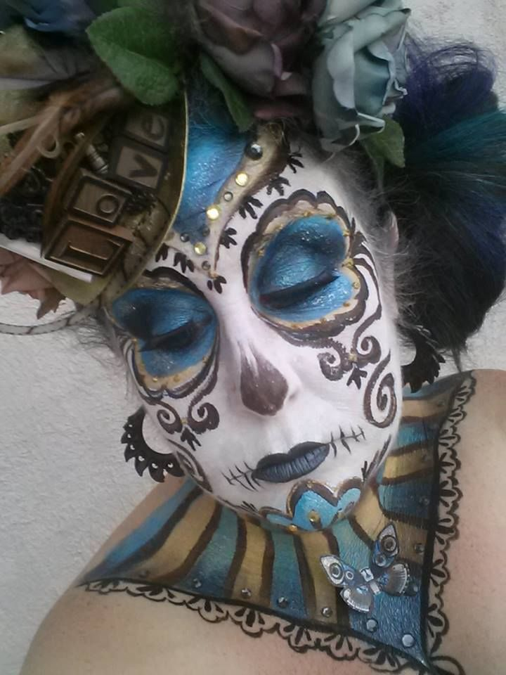 Body Painting Day Of Dead Pictures
