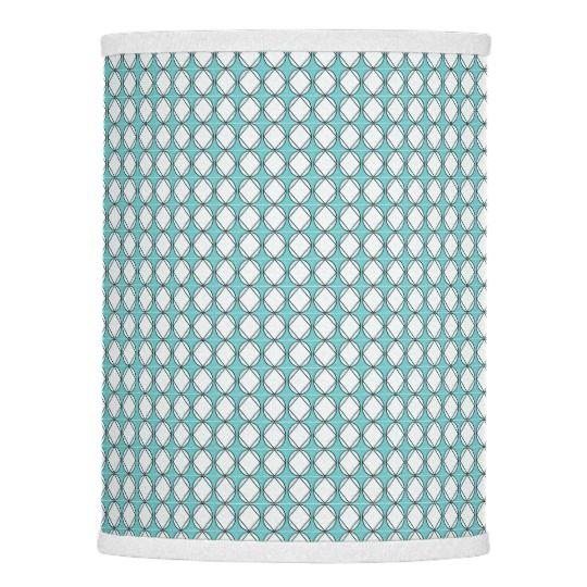 Cottage-Diamonds(c)Aqua_White Lamp Shade
