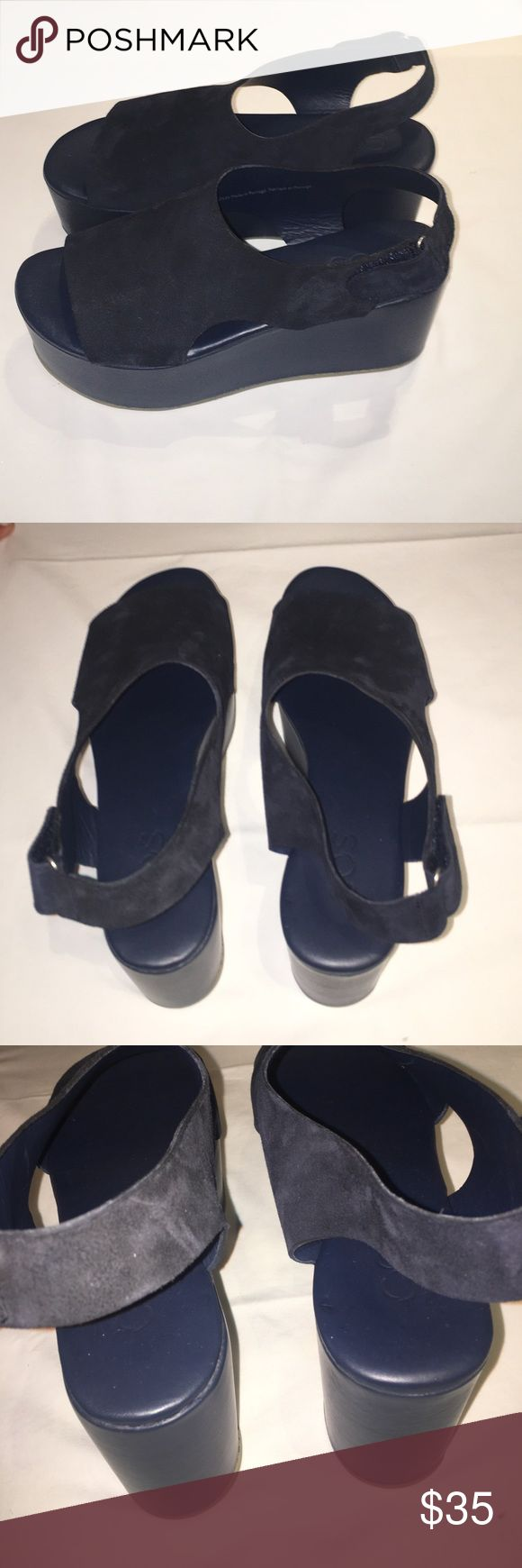 COS Navy Platform shoes Navy Small to Medium height platform shoes. Never been worn. COS Shoes Platforms