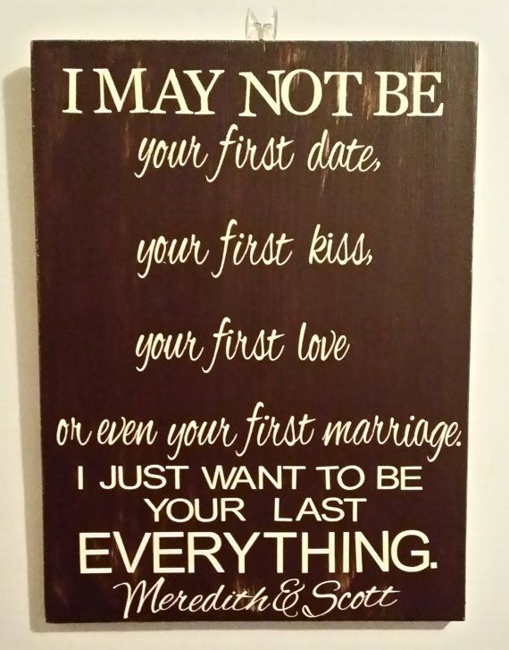 ... First ? - Romantic Anniversary Gift - 5th Anniversary Rustic wood