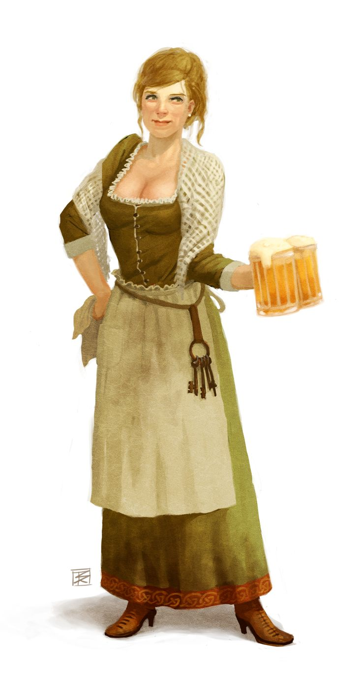 Bar Wench - Pathfinder PFRPG DND D&D d20 fantasy