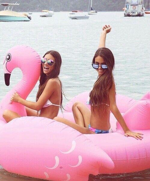 flamingo float for 2, please