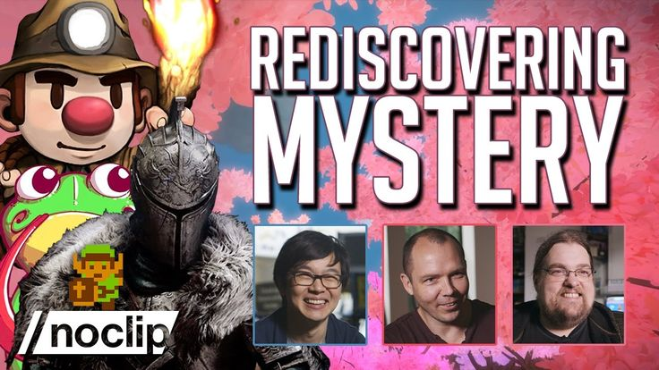 Rediscovering Mystery - Noclip Documentary (feat. Jonathan Blow / Derek Yu / Jim Crawford) - YouTube | In this special feature about video game mysteries, we talk to Jonathan Blow (The Witness / Braid), Derek Yu (Spelunky) and Jim Crawford (Frog Fractions) about the games that inspired wonder in us as children, and the fight to keep player discovery alive. #Gaming #VideoGames #IndieGames #GameDev #GameDevelopment #indieDev
