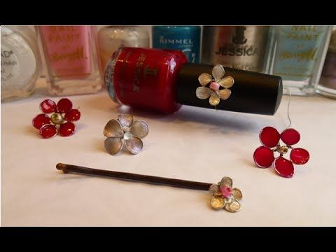 DIY Wire Nail Polish Flowers As it said you that thicker nail polish works better, I think this would be great for old nail polish that you don't use anymore.