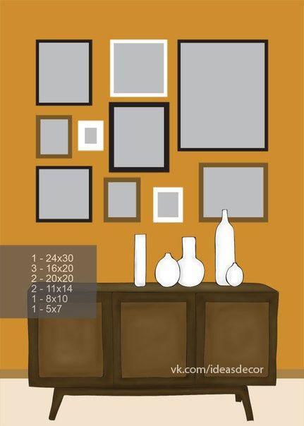 8 ideas para decorar con cuadros y fotos - Decoracion