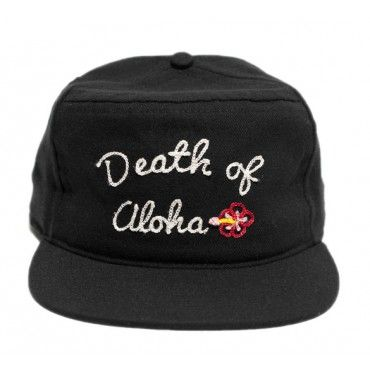 Death of Aloha Snapback in Black from Ampal Creative