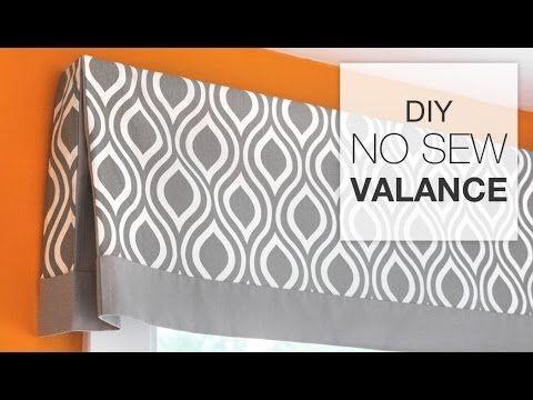DIY No Sew Valance Tutorial - YouTube